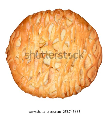 Apple Pie isolated on white. With clipping path - stock photo