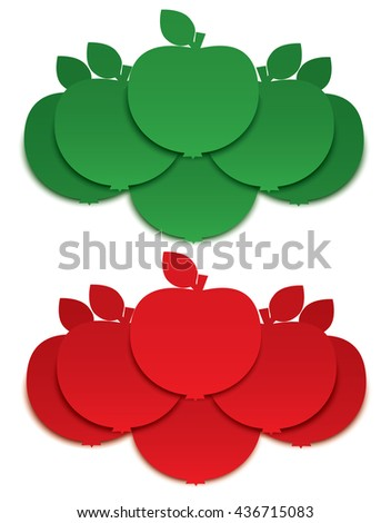Apple signs  - stock photo