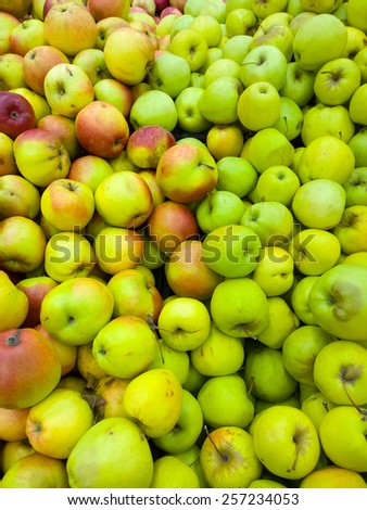 Apples at the supermarket. - stock photo