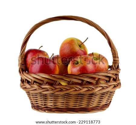 apples in the basket - stock photo
