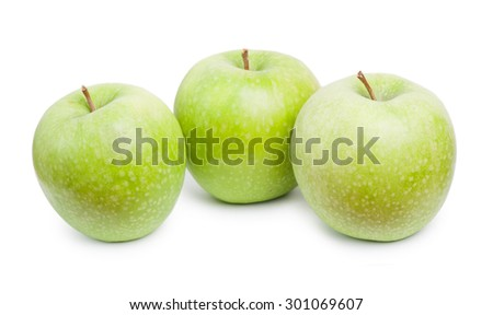 Apples isolated on white background - stock photo