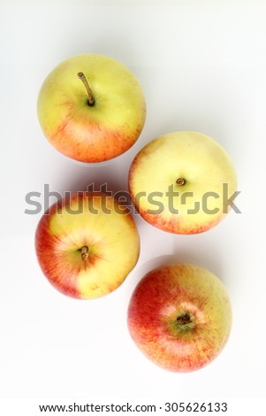 Apples on white background - stock photo