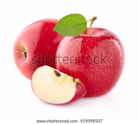 Apples with slice - stock photo