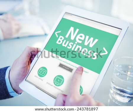 Applicant Filling Up the Online Job Application - stock photo