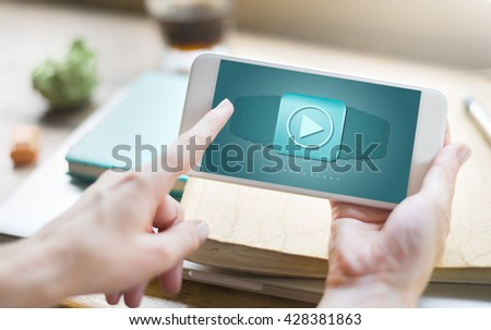 Application Program Icon Software Technology Concept - stock photo
