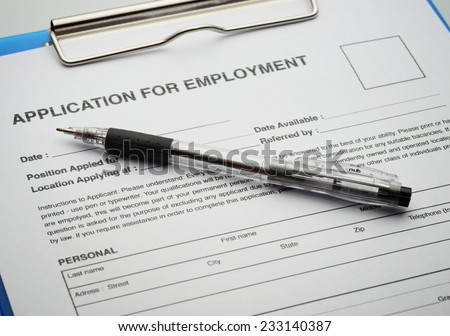 Apply for new job by Application Document - stock photo