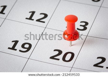 Appointments marked on calendar - stock photo