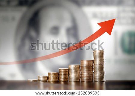 Appreciationl of the US dollar - stock photo