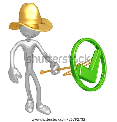 Approved Branding Iron - stock photo