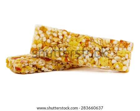 Apricot cereal bars - stock photo