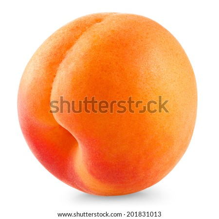 Apricot fruit isolated on white background. Clipping Path - stock photo