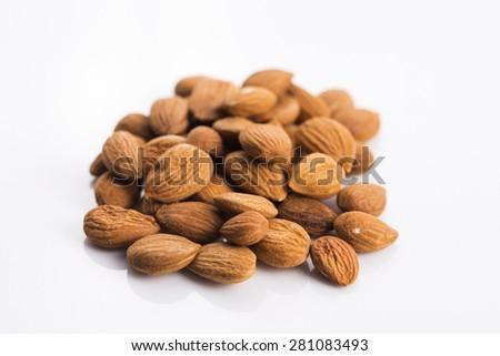 Apricot pits - stock photo