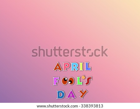 April fools day illustration over pink gradient background banner with text space - stock photo