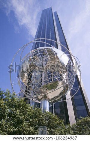 APRIL 2006 - Sculptor of Earth in front of Trump Towers in Manhattan, New York City, New York - stock photo