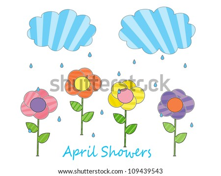 April Showers - stock photo