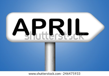 april spring month event calendar schedule  - stock photo