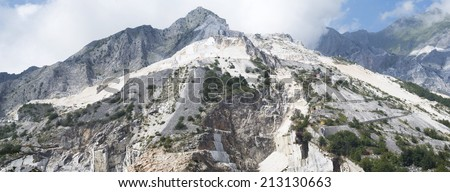 Apuan alps, Italy. The Marble Quarries - stock photo