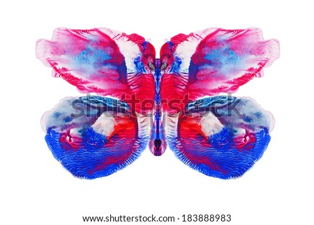 aquarelle butterfly- Abstract watercolor pattern, my own artwork.  - stock photo