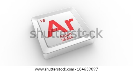 Ar symbol 18 material for Argon chemical element of the periodic table    Argentina Symbol