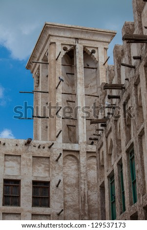 Arab Traditional Wind tower - stock photo