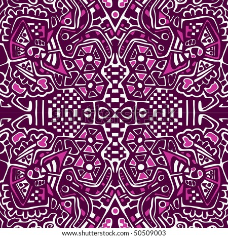 Arabesque mosaic pattern. Symmetric abstract oriental ornament background. Vector version is in my portfolio. - stock photo