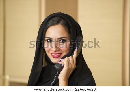 Arabian Customer service representative - stock photo