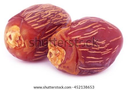 Arabian Dates over white background - stock photo