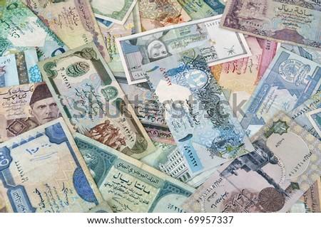 Arabian money - stock photo