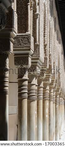 Arabian pillars - stock photo