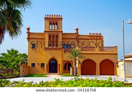 Arabian Villa - stock photo