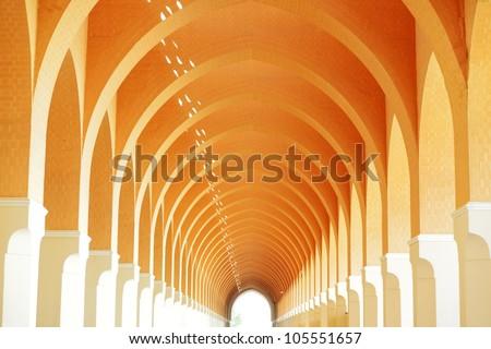 Arabic architecture interior arc - stock photo