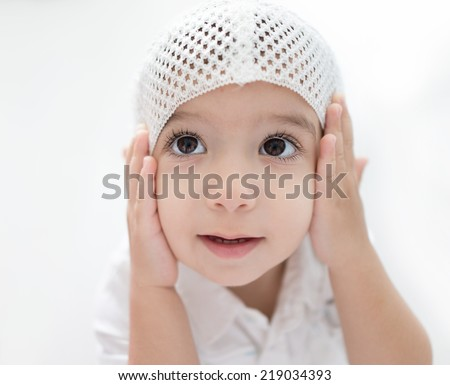 Arabic baby - stock photo