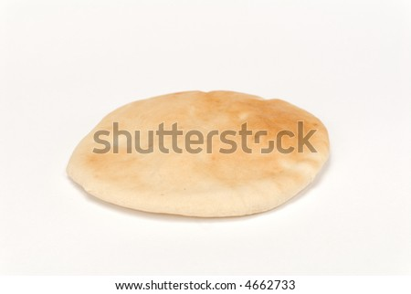 Arabic bread isolated over white background - stock photo
