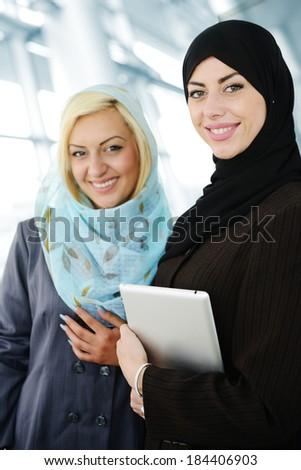 Arabic business women posing - stock photo