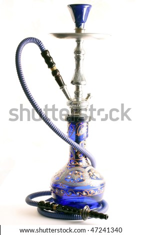Arabic hookah isolated over a white background - stock photo