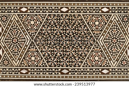 arabic mosaic - stock photo