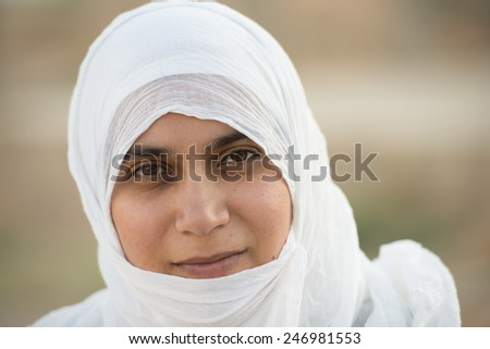 Arabic Muslim Middle Eastern girl - stock photo