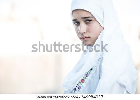 Arabic Muslim Middle Eastern girl - stock photo