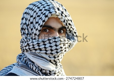 Arabic Palestinian man - stock photo
