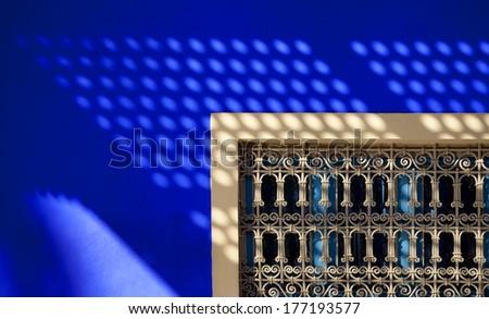 Arabic style window in Marrakesh, Morocco  - stock photo
