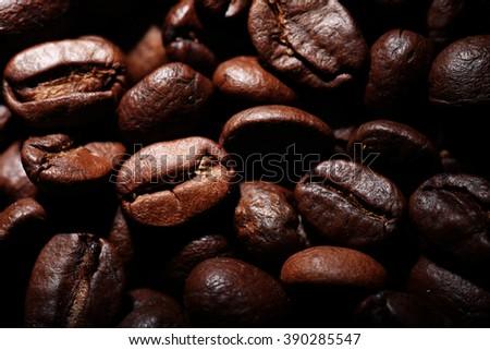 Arabica coffee beans texture - stock photo