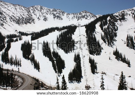 arapahoe basin ski area, colorado - stock photo