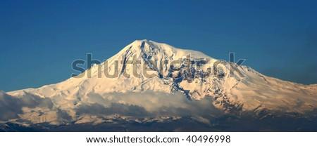 ararat mountain, view from armenia - stock photo