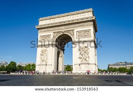 Arc de Triomphe in Paris - France - stock photo