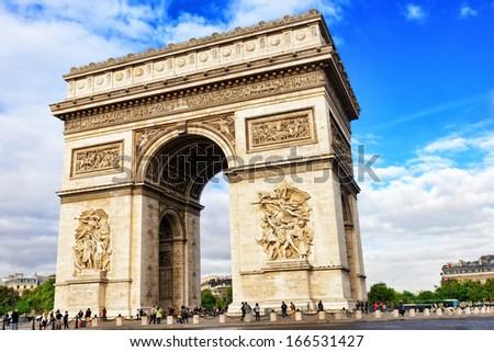 Arc de Triomphe in Paris. France. - stock photo