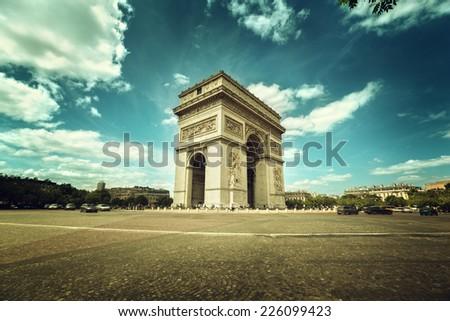 Arc de Triumph, Paris  - stock photo