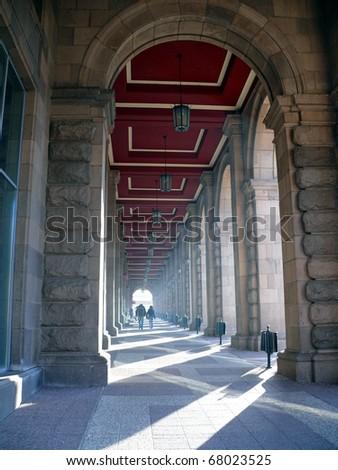 Arc path in Sofia. Bulgaria - stock photo
