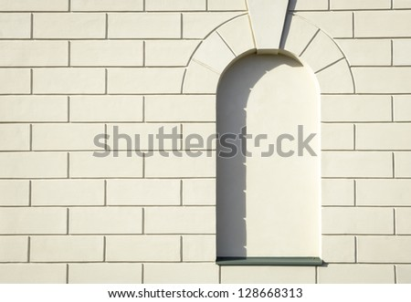 arch at a historic building - nice background - stock photo