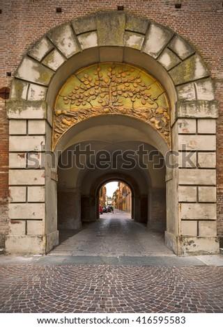 Arch, Bologna, Italy, - stock photo