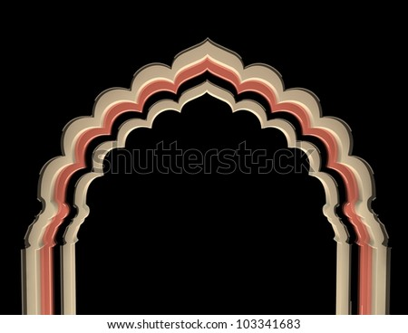 Arch Color - stock photo